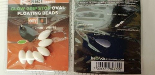 Inova K-Nect Series Oval Glow Stop beads - WHITE